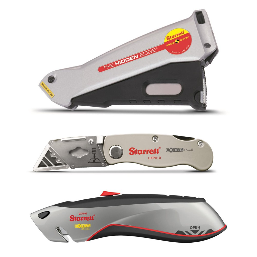 Noże bezpieczne / segmentowe / łamane / aluminiowe