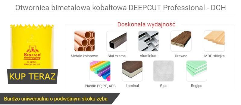 Otwornica bimetalowa kobaltowa DEEPCUT